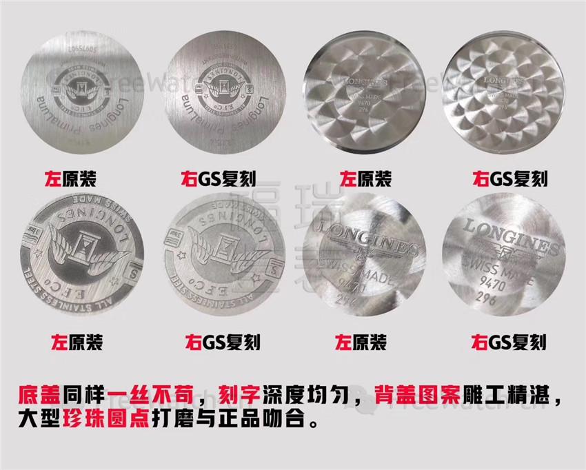 GS厂浪琴心月系列月相与正品对比评测-第7张