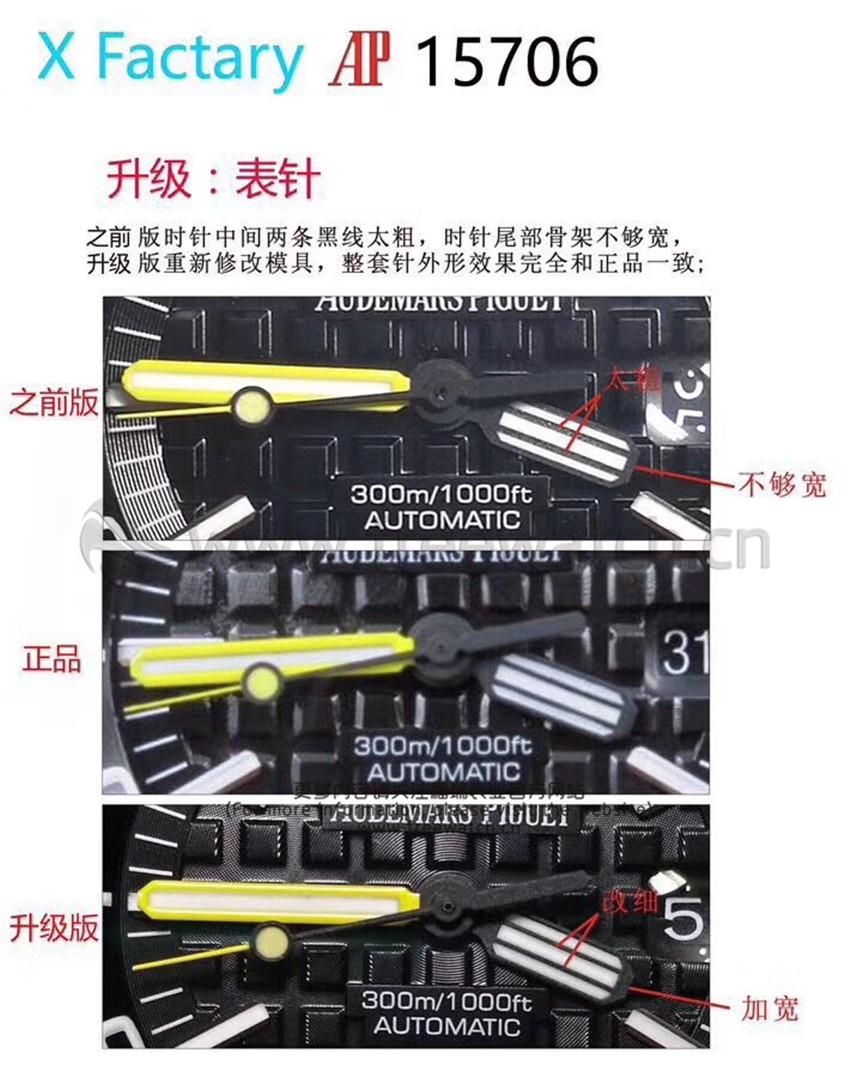 XF厂V3爱彼AP15706和AP15707与升级了哪些方面-第3张