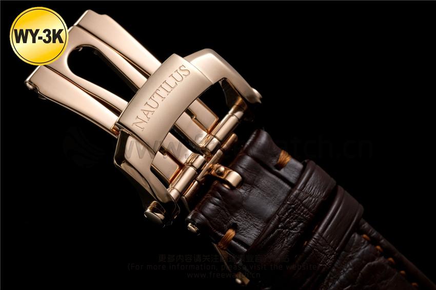 WY-3K厂百达翡丽鹦鹉螺玫瑰金5711与正品对比评测-第28张