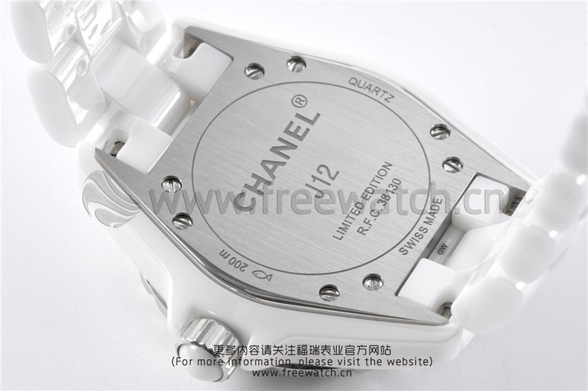 XF厂香奈儿J12粉色贝母盘白陶瓷石英款对比正品评测-第20张