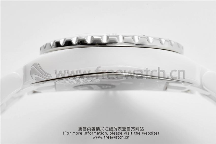 XF厂香奈儿J12粉色贝母盘白陶瓷石英款对比正品评测-第14张