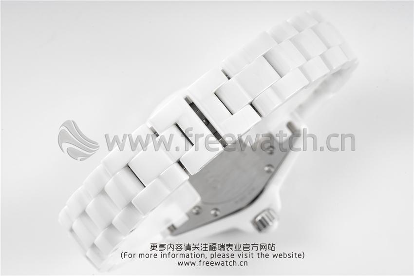 XF厂香奈儿J12粉色贝母盘白陶瓷石英款对比正品评测-第17张