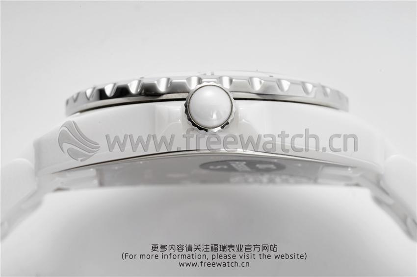 XF厂香奈儿J12粉色贝母盘白陶瓷石英款对比正品评测-第19张
