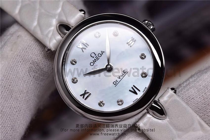 3S厂欧米茄碟飞典雅系列女士腕表对比正品评测-第12张