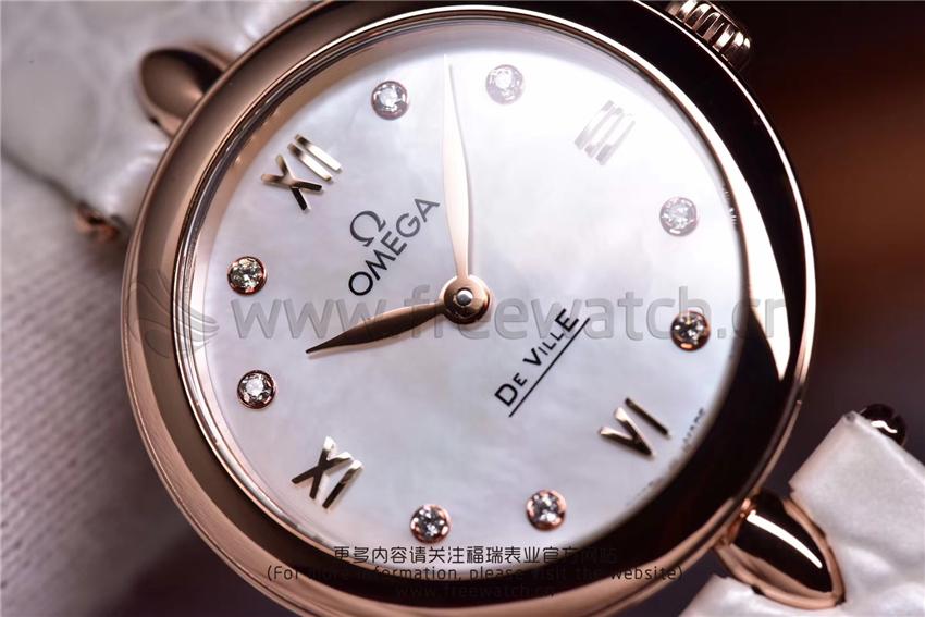 3S厂欧米茄碟飞典雅系列女士腕表对比正品评测-第31张
