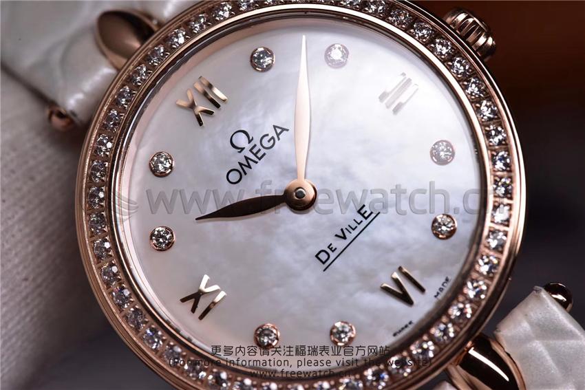 3S厂欧米茄碟飞典雅系列女士腕表对比正品评测-第40张