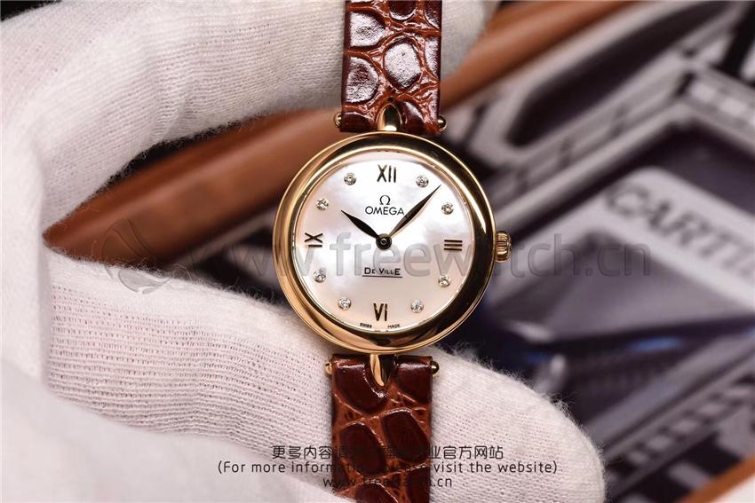 3S厂欧米茄碟飞典雅系列女士腕表对比正品评测-第46张