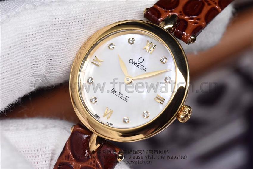3S厂欧米茄碟飞典雅系列女士腕表对比正品评测-第47张