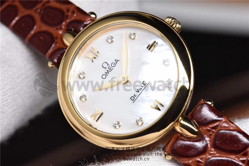3S厂欧米茄碟飞典雅系列女士腕表对比正品评测-第48张