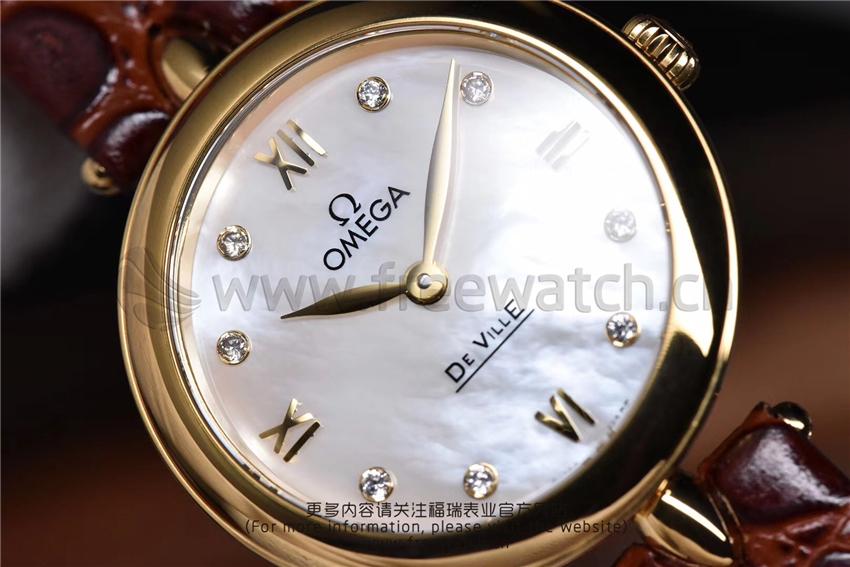 3S厂欧米茄碟飞典雅系列女士腕表对比正品评测-第49张