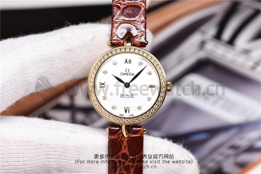 3S厂欧米茄碟飞典雅系列女士腕表对比正品评测-第55张