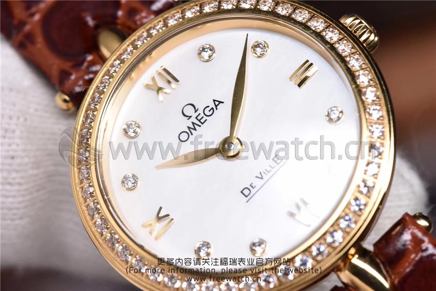 3S厂欧米茄碟飞典雅系列女士腕表对比正品评测-第58张