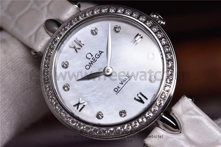 3S厂欧米茄碟飞典雅系列女士腕表对比正品评测-第21张
