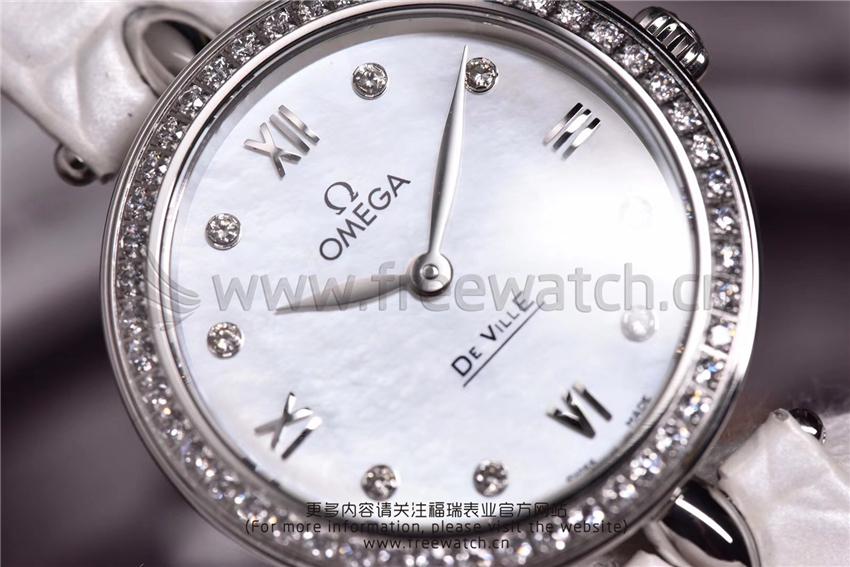3S厂欧米茄碟飞典雅系列女士腕表对比正品评测-第22张