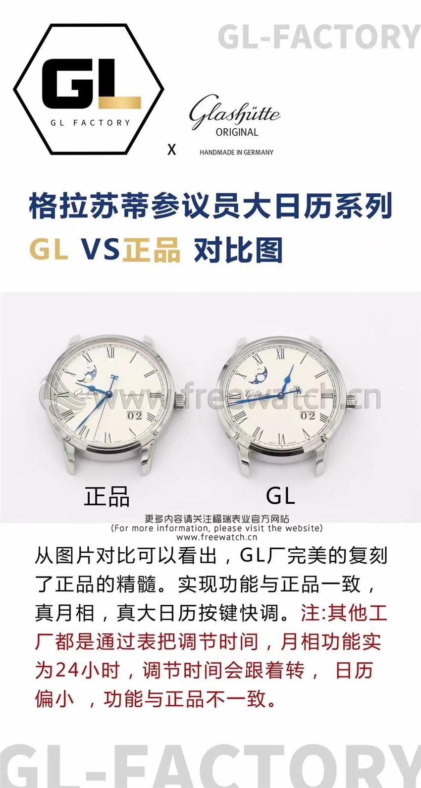 GL厂格拉苏蒂参议员大日历系列与正品对比评测